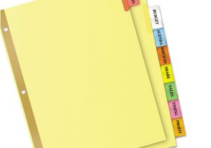 8 Large Tab Insertable Dividers Template Avery 11111 Insertable Big Tab Dividers 8 Tab Letter