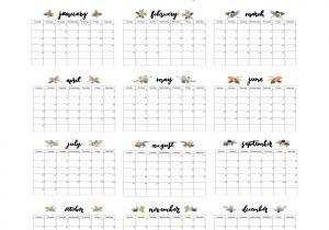 8×10 Calendar Template 2017 Calendar Printable Calendar 8×10 Calendar Wall