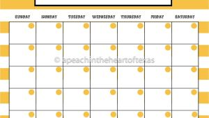 8×10 Calendar Template 8×10 Printable Calendar