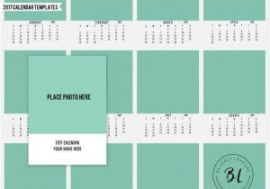 8×10 Calendar Template Items Similar to 2017 8×10 Calendar Calendar Template
