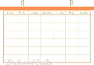8×10 Calendar Template Items Similar to Printable Monthly Calendar Template for