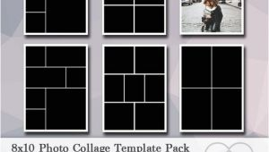 8×10 Photo Collage Template 8×10 Digital Photo Template Pack Photo Collage Scrapbook