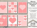 8×10 Photo Collage Template 8×10 Heart Photo Collage Templates Templates On Creative