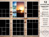 8×10 Photo Collage Template 8×10 Photo Collage Template Pack 2 Templates On Creative