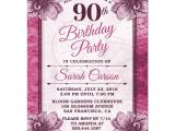 90 Birthday Invitation Templates 90th Birthday Party Invitations Party Invitations Templates