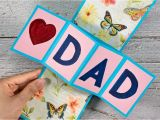 A Beautiful Card for Father S Day Diy Father S Day Twist and Pop Up Card Twist and Pop Up Card for Dad Craft for Kids