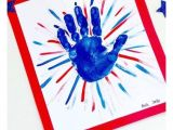 A Beautiful Card On Independence Day 4th Of July Independence Day Fireworks Handprint Patriotic