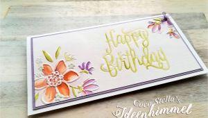 A Happy Birthday Greeting Card Es ist Unglaublich Eine Wunderblume Die Ihrem Namen Alle