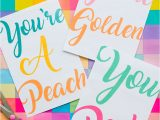 A Picture Of A Thank You Card 5 Fun Free Printable Thank You Cards In A Modern Colourful