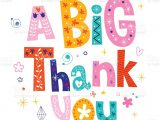 A Picture Of A Thank You Card Big Thank You Greeting Card Stock Illustration Download