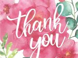 A Picture Of A Thank You Card Floral Thank You Card World Wildlife Fund Fsc Certified