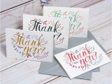A Picture Of A Thank You Card Thank You Cards by Oakdene Designs