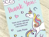 A Picture Of A Thank You Card Unicorn Custom Thank You Cards 24ct