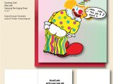 A Singing Happy Birthday Card Singing Clown Greeting Card On Behance
