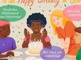 A Singing Happy Birthday Card Wishing someone A Happy Birthday In German