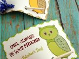 A Valentine Card for A Friend Owl Always Be Your Friend Printable Valentine S Day Cards