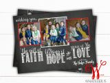 A Year In Review Christmas Card Faith Hope Love Christmas Card Chalkboard Family Christmas