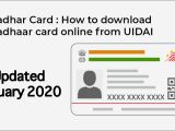 Aadhar Card Download by Name and Date Of Birth How to Download Aadhaar Card Aadhar Card Kaise Download Kare Password Of Pdf Updated 2020