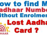 Aadhar Card Number Search by Name How to Find My Aadhaar Number without Enrolment Lost Aadhar Card Get Duplicate Number