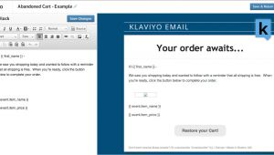 Abandoned Cart Email Template Klaviyo Launches Abandoned Carts Features for Ecommerce Stores