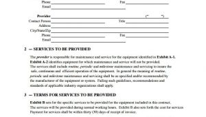Ac Service Contract Template Maintenance Contract Template 20 Download Documents In