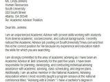Academic Advisor Cover Letter Templates 6 Sample Academic Advisor Cover Letters Sample Templates