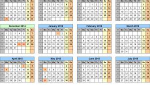 Academic Calendar Template 2014-15 6 Best Images Of Printable School Calendar 2014 2015