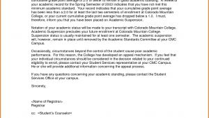 Academic Probation Letter Template 11 College Suspension Appeal Letter Example Lease Template