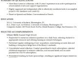 Academic Resume Template Functional Resume Example Librarian In An Academic Setting