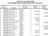 Account Statement Email Template Customer Account Statement Template In Excel