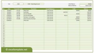 Accounting Ledgers Templates General Ledger Excel Templates