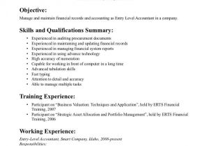 Accounting Student Resume No Experience Entry Level Accounting Resume Examples Resume Job