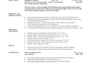 Accounting Student Resume No Experience Resume for Undergraduate College Student Thrifdecorblog Com