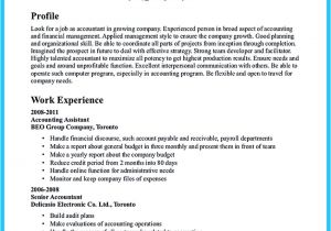 Accounting Student Resume No Experience Sample for Writing An Accounting Resume