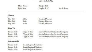 Acting Resume Sample Free 18 Useful Sample Acting Resume Templates In Pdf
