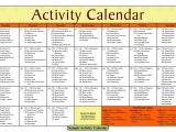 Activity Calendar Template for Seniors 14 Blank Activity Calendar Template Images Printable