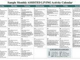 Activity Calendar Template for Seniors Sample Monthly assisted Living Activity Calendar Pdf