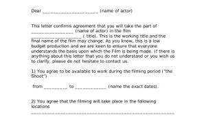 Actors Contract Template Actors Contract