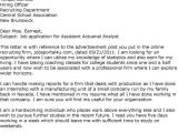 Actuarial Internship Cover Letter Resume Letters for Quotes Quotesgram