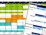 Ad Calendar Template Advertising Media Plan Template for Cost Analysis and