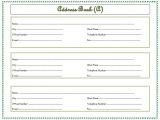 Addressable Template Address Book Template Record Your Important Addresses