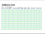 Addressable Template Printable Address List Book Template for Ms Excel Excel