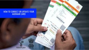 Adhar Card In Name Change How to Update or Correct Your Aadhaar Card Details Easy