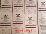 Adidas Receipt Template Unauthorized Adidas Yeezy Boost Receipts for Sales