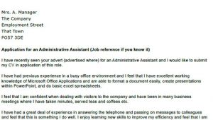 Admin assistant Cover Letter Uk Application Letter as Administrative assistant Platinum