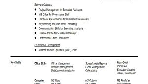 Admin Resume In Word format Executive Administrative assistant Resume 10 Free Word