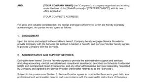 Administrative assistant Contract Template Administrative Services Agreement Template Sample form