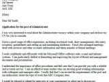 Adminstration Cover Letter Administrator Cover Letter Example Icover org Uk
