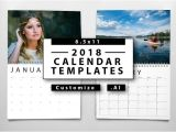 Adobe Photoshop Calendar Template 2018 Calendar Templates Templates Creative Market