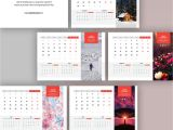 Adobe Photoshop Calendar Template Freebie 2017 Desk Calendar Template On Behance